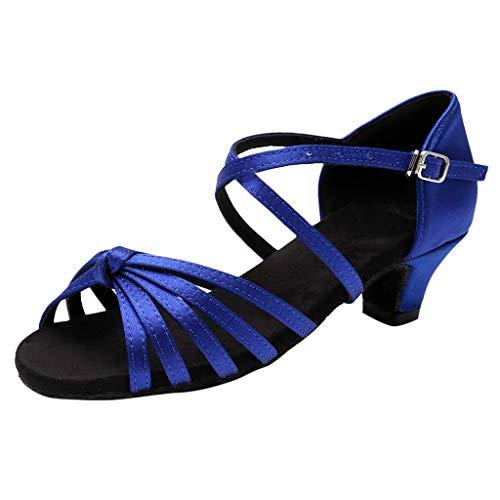 in Tanzschuhe Mädchen Prinzessin Sandalen Pumpen Ausgestelltes Standard Ballsaal High Heels Dance Schuhe mit Absatz ()