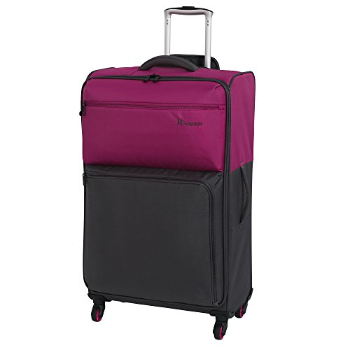 it luggage Duotone The Lite 4 Wheel Lightweight Suitcase Large Koffer, 78 cm, 86 liters, Rot (Fuchsia Red + Magnet)