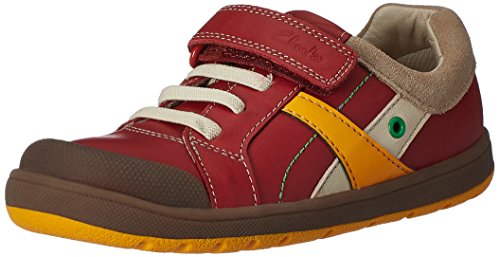 Clarks Boy's Red First Walking Shoes - 11 kids UK/India (29 EU)