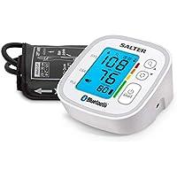 Salter medida presión de brazo con Bluetooth, dos Usuarios + invitado, 60 memorias, indicador de hipertensión,.