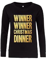 Direct 23 Ltd Winner Winner Christmas Dinner Ladies Sweatshirt
