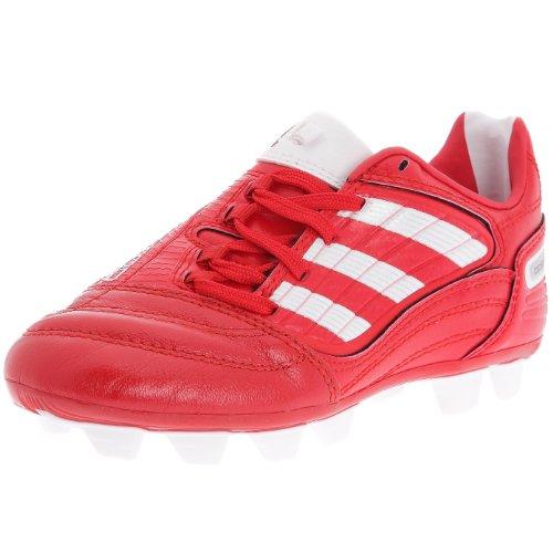 Adidas P ABSOLADO _ X FG J-Scarpe Calcio Terreno Disk Bambino-Rosso/Bianco/Bianco, Rosso (rouge/Blanc/Blanc), 37 1/3