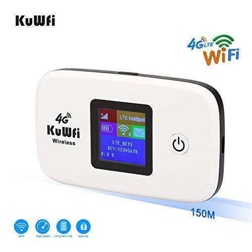 KuWFi Desbloqueado 150Mbps 4G WiFi Router Viaje Router