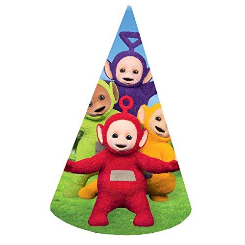 (8 Partyhütchen * TELETUBBIES * für Kindergeburtstag oder Motto-Party // Hats Hüte Hütchen Kinder Geburtstag Tele Tubbies)