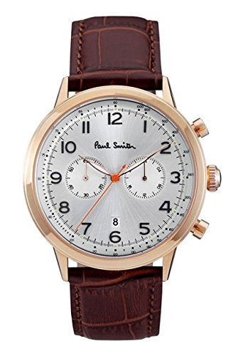 paul-smith-mens-quartz-watch-with-silver-dial-chronograph-display-and-brown-leather-strap-p10015