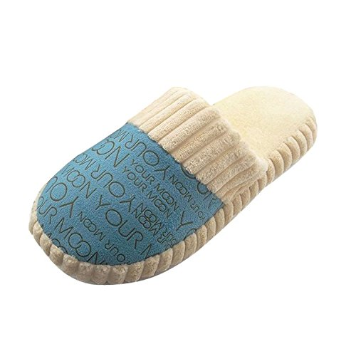 Minetom Unisexe Chaussures en peluche doux Lettres bande dessinée style sandales d'hiver antidérapant sandales Pantoufles Confortables Légers Antidérapantes Pour Maison Bureau EUROPE Taille