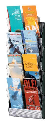 PaperFlow Maxi System Wall Display, 4 Pockets, 25.6x5.2x3.14 Inches, Third Letter Size, Aluminum (4065X4.35)
