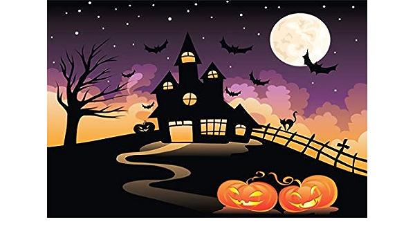 Yongfoto 3x2m Vinyl Foto Hintergrund Halloween Spukhaus Kamera