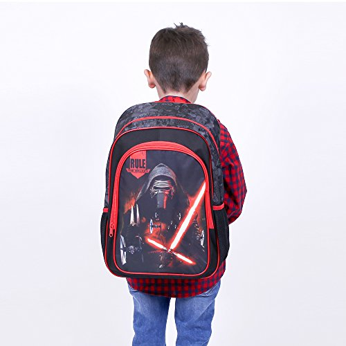Prix Sac à dos pour Enfants Star Wars – Cartable scolaire avec poche avant Kylo Ren – Sac d'école pour le jardin d'enfants – Noir – 41x27x14 cm – Perletti