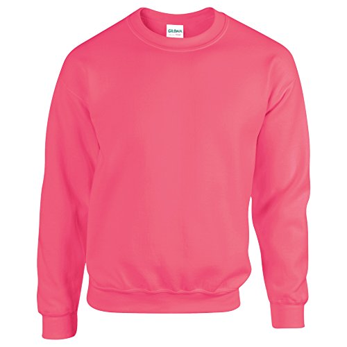 Gildan Heavy Blend Sweatshirt mit Rundhalsausschnitt XL,Safety Pink Pink Jumper