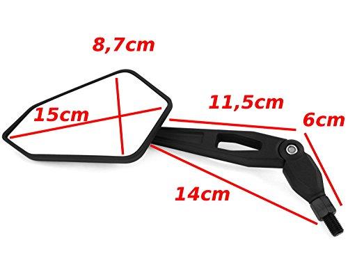 E-geprüftes Spiegel Set Yamaha RD 400 / WR 250, WR 125R, WR 125X, 450 / Rückspiegel Yamaha TY 50, 125, 250 / TT 350, 600 / LB 50 -