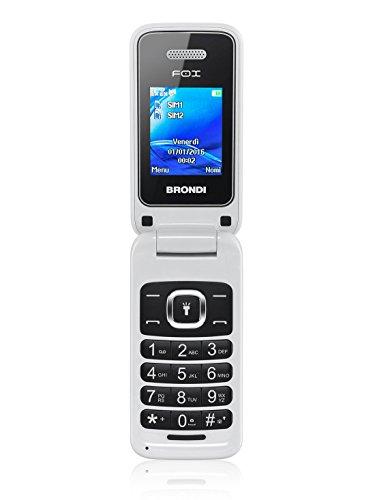 Brondi Fox Telefono Cellulare, Bianco