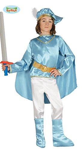 Prinzen Kostüm für Kinder Prinz Karneval Edelmann Prinzenkostüm Arabien Wüste Gold Gr. 110-146, (Prinz Kostüm Kind)