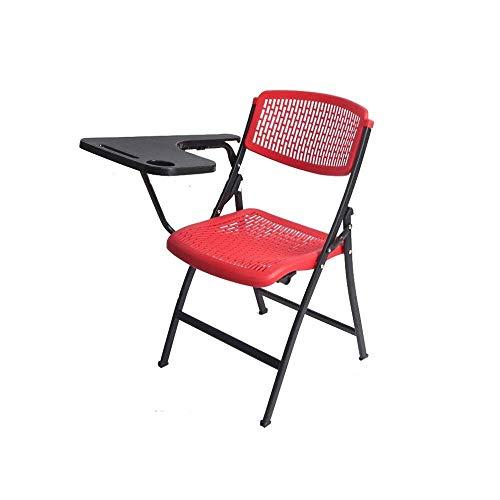 GEZHU Klappstuhl aus Kunststoff Business Meeting-Stuhl Portable Office Ausbildung Stuhl Klappstuhl mit Metallgestell und Kunststoff-Sitz, Folding Home Office Party-Stuhl Praktischer Klappstuhl
