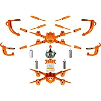 Zantec Juguete Mini bricolaje sin cabeza RC Quadcopter Puzzle ensamblar 3D Rotación aviones no tripulados con luces