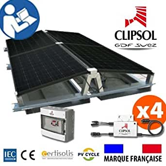 Kit photovoltaïque autoconsommation prêt à poser sur Châssis 1000WC