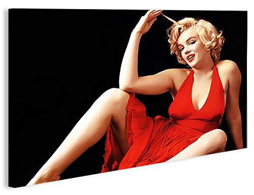 Marilyn Monroe V12 1pcm Cuadro sobre lienzo Cuadros modernos y listos para colgar. Cuadro Impresión fotográfica artística Obra de Arte