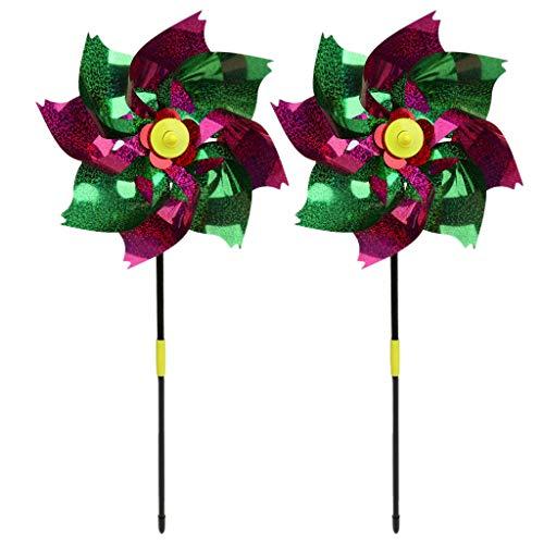Wiffe Wind Spinner Glitter Glow Windmühle Bunte jardín decoración Party  niños juguetes Windrad Outdoor juegos regalos