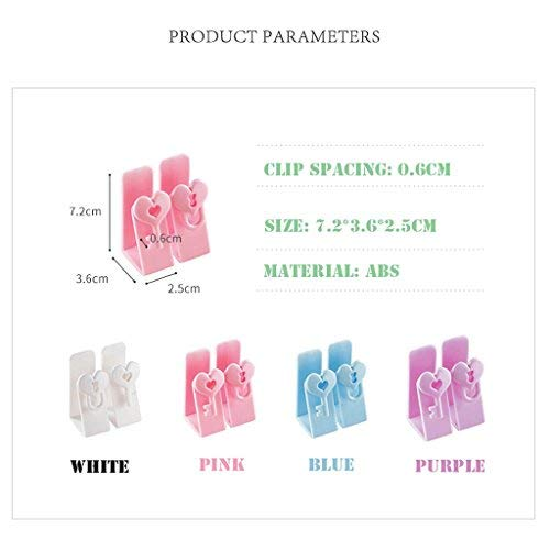 Wghz Kreative multifunktionale Türhaken Kunststoff S-Typ Single nagelfrei Küche Bad Bad Unterwäsche Haken (Farbe: lila) - Sperrholz 4 3 Clips