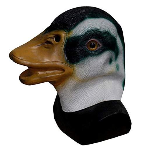qiumeixia1 Drake Halloween Kostüm Tier Latex Erwachsene Overhead Wild Mallard Duck Maske (Disco Duck Kostüm)