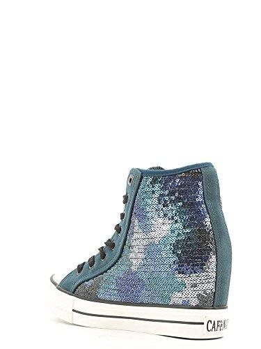 Sneakers camouflage in paillettes Cafè Noir art.NDG912 Camouflage blu