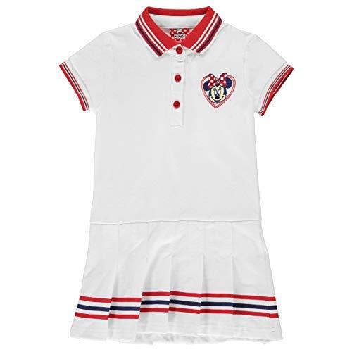 Tennis Kleider (Character Wear Minnie Maus Tennis-Kleid Mädchen Weiß Gehrock Rock - Weiß, 116)