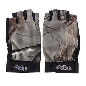 LIOOBO UV-Angelhandschuhe Sonnenschutz Fingerloser Handschuh UPF 50+ SPF für Kajakfahren Paddeln