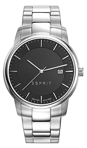 Esprit ES-ALBERT SILVER ES108381003 - Reloj para hombres, correa de acero inoxidable color plateado