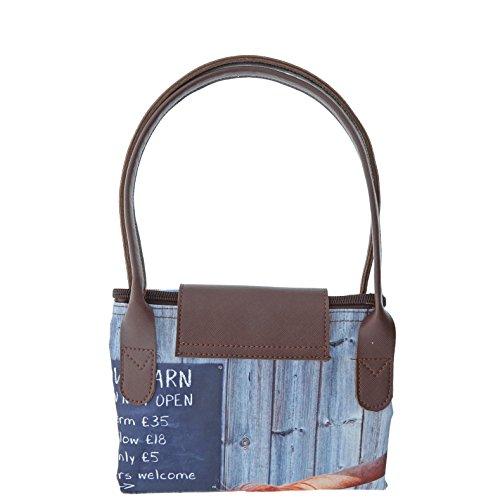 Kitchy & Co Meadow Barn Foldaway Tote Bag (Haar-salon-kunst)