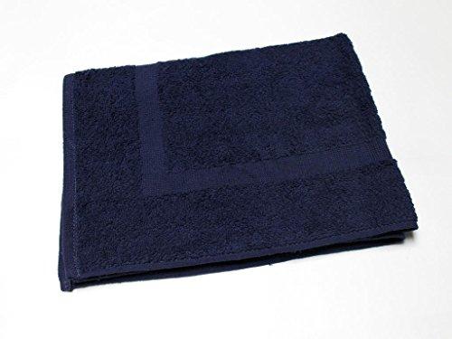 Soleil d'Ocre Tapis de Bain UNI Bleu 900gr/m2, Coton, 50 x 70 cm