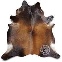 sunshine cowhides tapis de peau de vache mahogany 190 x 180 cm mg1 qualit suprieur - Tapis Peau