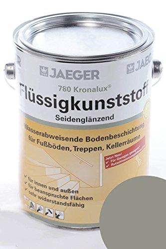 Jaeger Kronalux Flüssigkunststoff 780 steingrau RAL7030 2,5l Bodenbeschichtung
