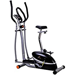 V-Fit MCCT1 Combination 2-in-1 Magnetic Cycle and Elliptical Trainer
