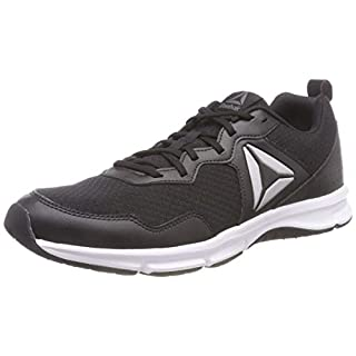 Reebok Men's Express Runner 2.0 Running Shoes, Black/Silver/Ash Grey/White, 8 UK