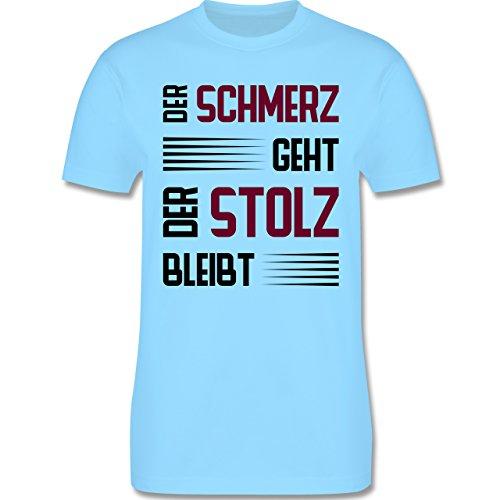 Laufsport - Der Schmerz geht doch der Stolz bleibt - Herren Premium T-Shirt Hellblau