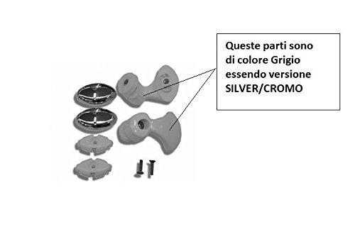 NOVELLINI CUSCINETTI+SUPPORTI LUNES R Vers. Binario unico SILVER/CROMO R07LUR1-B