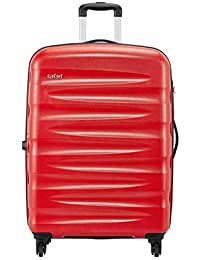 Safari Wedge Polycarbonate 77 cms Scarlet Red Hardsided Check-in Luggage (WEDGE774WSRE)