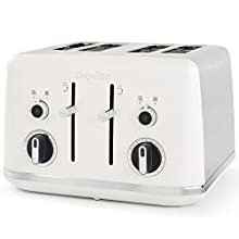 Breville Lustra 4-Slice Toaster with High Lift | Wide Slots & Independent 2-Slice Controls | Matt White [VTT970]