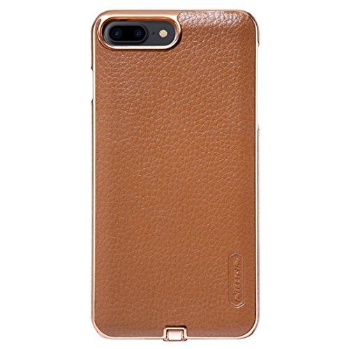 NILLKIN 2 in 1 N-JARL Case für iPhone 7 Plus Litchi Texture PU Skin PC Schutzhülle mit QI Standard Wireless Ladegerät by diebelleu ( Color : Black ) Brown