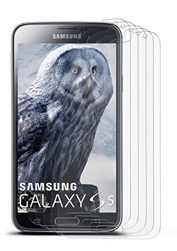 5X Samsung Galaxy S5 | Schutzfolie Matt Display Schutz [Anti-Reflex] Screen Protector Fingerprint Handy-Folie Matte Displayschutz-Folie für Samsung Galaxy S5 / S5 Neo Displayfolie (Protector S5-fingerprint Screen)