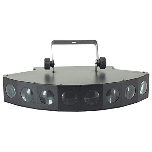 EXTREME 8-EYES 8 X 3W RGBW LED CREE EFFETTO LUCE BEAM 8 LEDS 24W DMX 8 CANALI EFFETTI ANGOLO BEAM 4°