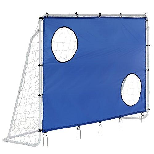 Songmics Fußballtor Maße 240x150x90cm Nets Portable Blau SZQ240 thumbnail
