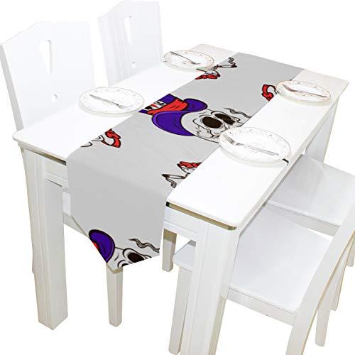 hen Genießen Kommode Schal Tuch Abdeckung Tischläufer Tischdecke Tischset Küche Esszimmer Wohnzimmer Home Hochzeitsbankett Decor Indoor 13x90 Zoll ()