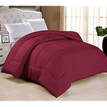 ThreadWorks Hotel Feel Ultra Soft Microfiber AC Comforter/Quilt/Duvet 200 GSM, Maroon Color, King Size Single Bed 60 inches x 90 inches