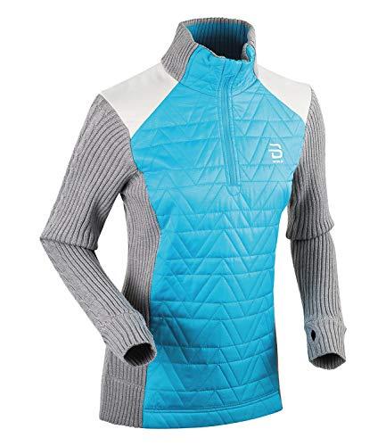Björn Daehlie Damen Skipullover Langlaufpullover Half Zip Comfy 332025, Farbe:Silber;Artikel:-94100 silver filigree;Größe:S