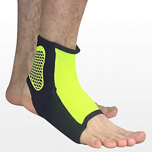 AUNLPB Involucro di Supporto alla Caviglia, Tessuto Elastico Traspirante Manicotto alla Caviglia Perfetto per fascite Plantare Distorsioni minori del Tendine di Achille Sport, 3 Coppie,Green,XL