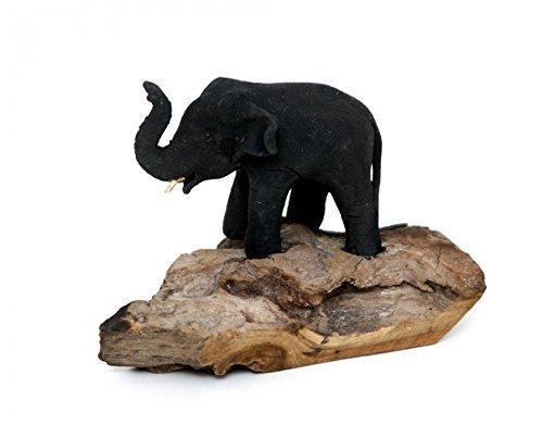 Elefant Mutter Kind Baby Holz Unikat Figur Skulptur Glück Deko Afrika Asien + Brillibrum Flyer Geschenke Geschenkidee Kinder (Holzelefant - Baby)
