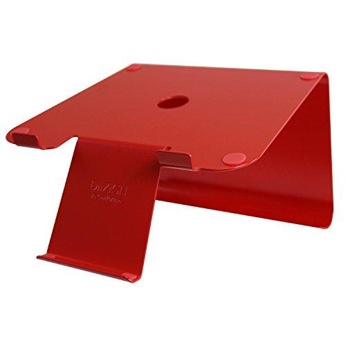 DiiZiGN Laptopständer rot inkl. Smartphoneständer (Stahl). Schreibtisch Ständer für Notebook & Apple MacBook. Neuheit aus den USA (Möbel Neuheit)