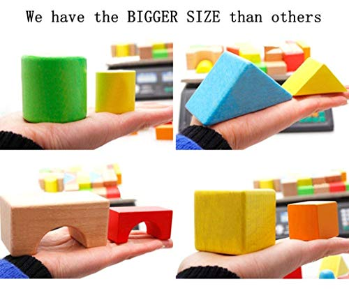 Lewo Large Wooden Building Blocks Games Set Children Educational Stacking Toys 32 Pieces