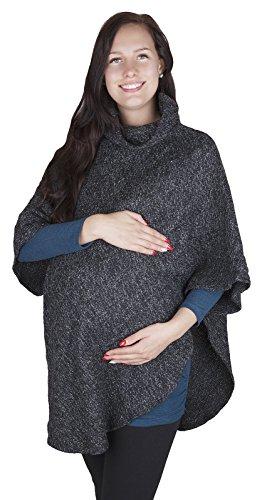 Poncho 3057 - hiver/printemps - convient pour la grossesse Anthracite